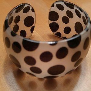 Jewelry - Seeing Spots! Cute Cuff Bracelet Black& White